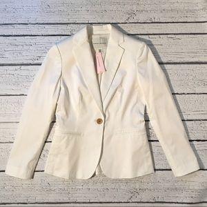 Banana Republic Cream Suit Jacket Petite 00P